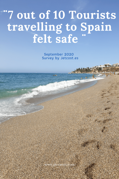 ¨Seven out of Ten Tourists travelling to Spain felt safe¨ Visiting Spain