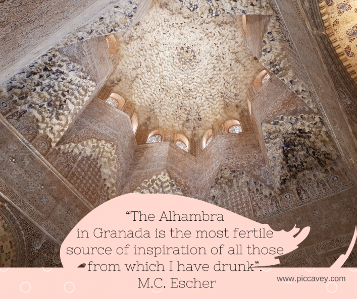 Escher Quote Alhambra in Granada Spain