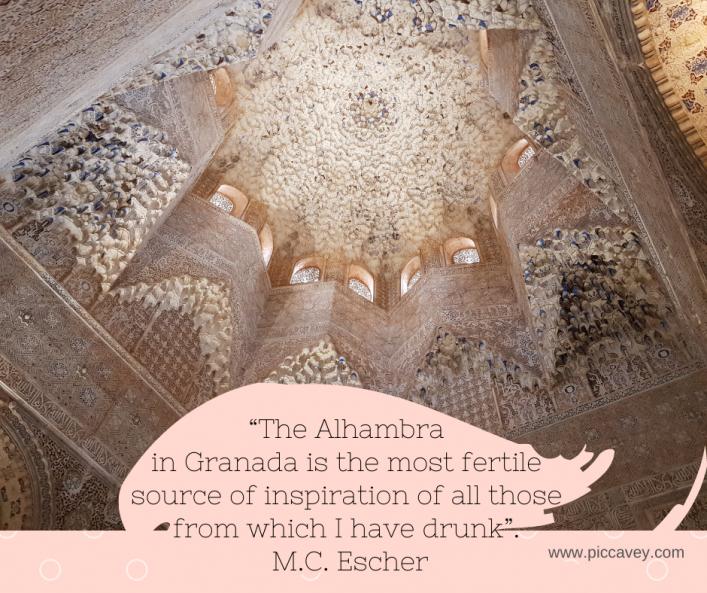 Escher Quote Alhambra in Granada Spain