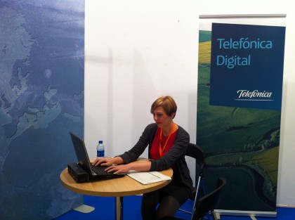 Molly working at Exhibition stand