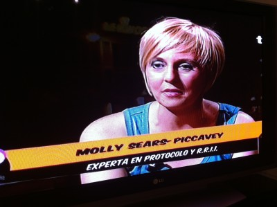 Interview August 2012 on TG7 TV in Granada
