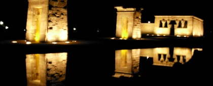 Temple Debod Madrid Spain