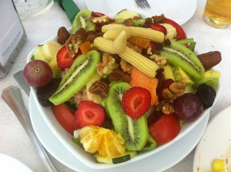 Tropical Salad on the Granada Coast, Spain