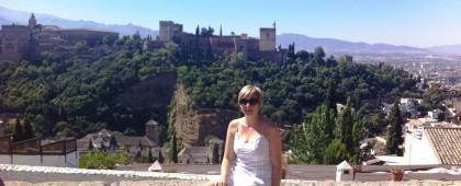 View from Mirador de San Nicolas of the Alhambra  Granada Spain    piccavey.com