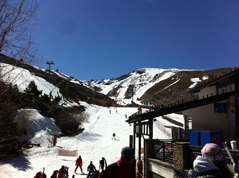 Taken 9th April 2012 at End of season in Pradallano Sierra Nevada Spain