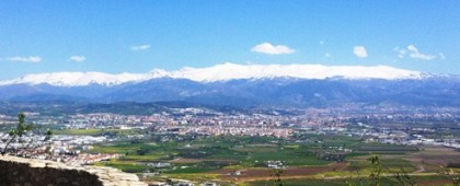 View of Sierra Nevada from Atarfe Granada Spain