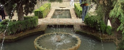 Fountain in Generalife Alhambra Granada Spain by piccavey