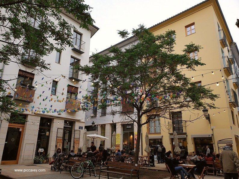 A Square in Valencia Spain