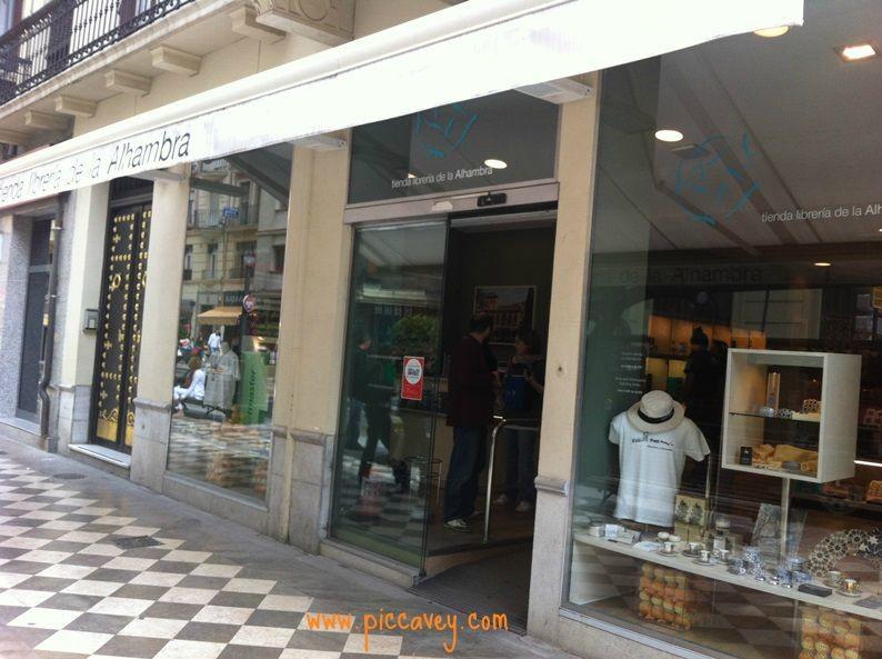 Alhambra gift shop Granada Spain