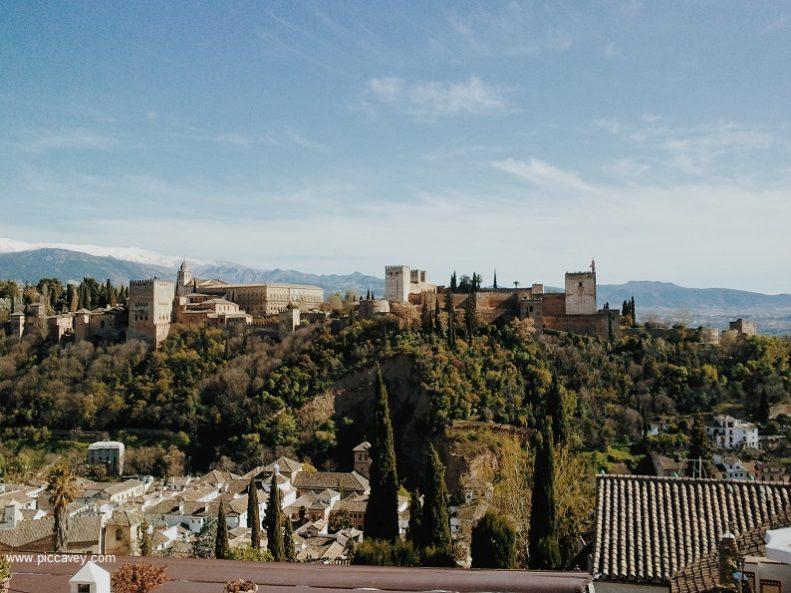 Alhambra seen from Mirador de San Nicolas Granada