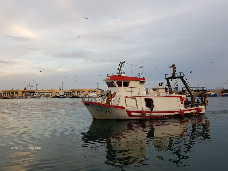 Almeria Port Spain Fishing Boat