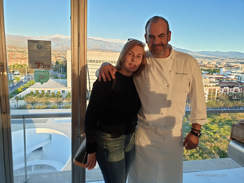 Alvaro Arriaga and Food Blogger Piccavey in Granada Spain