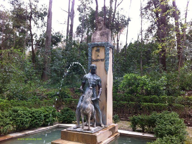 Angel Ganivet Statue in Alhambra woods Granada Spain blog
