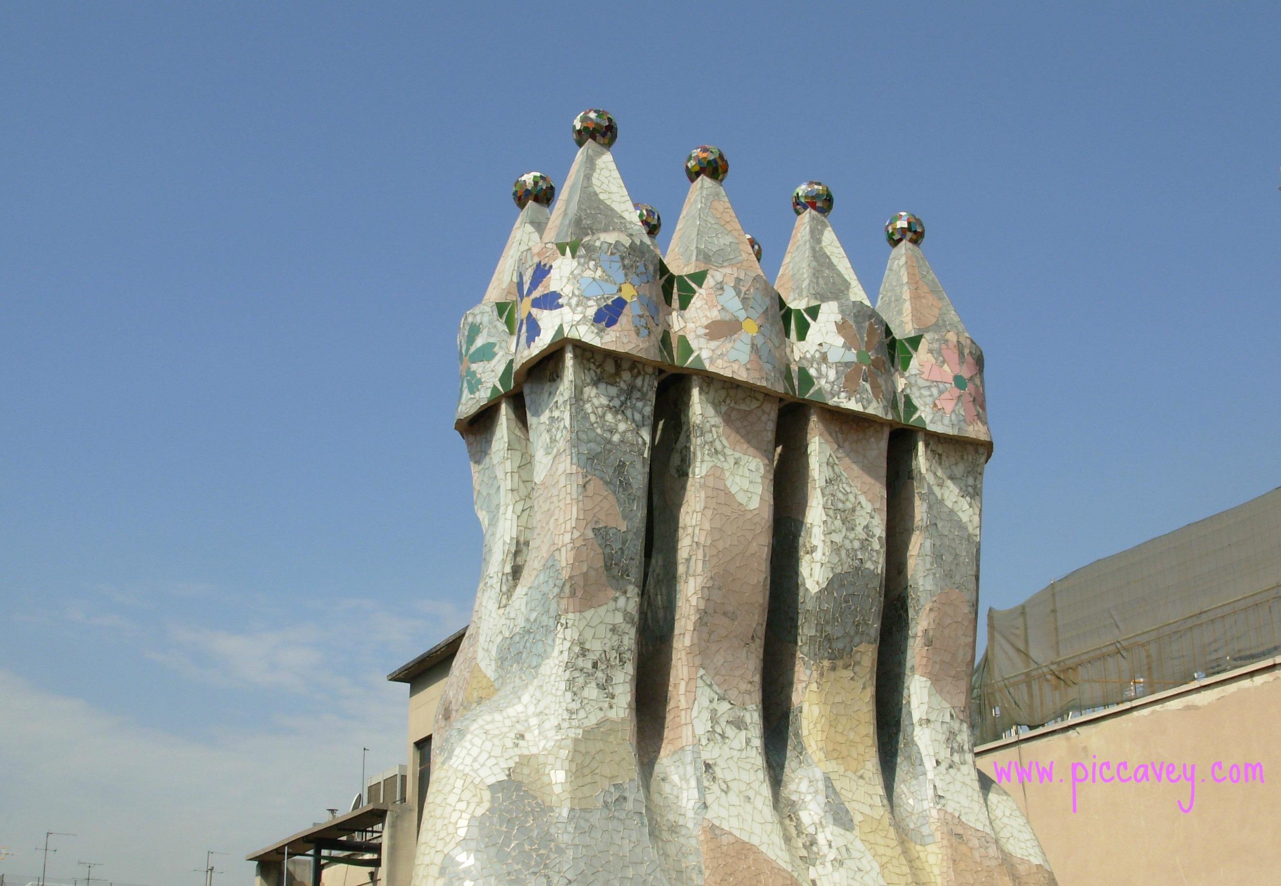 Gaudi Architecture in Barcelona Spain