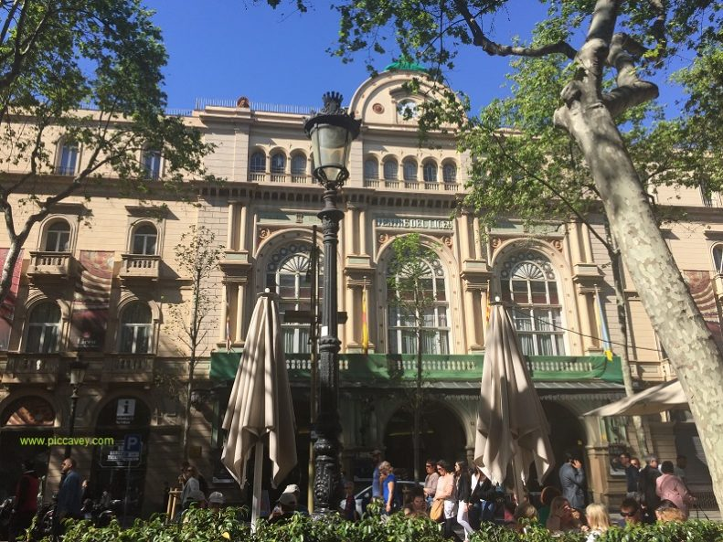 Barcelona Ramblas in Spain by piccavey