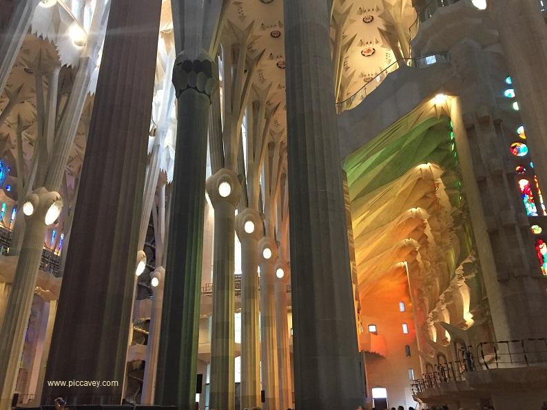 Inside Sagrada Familia Barcelona