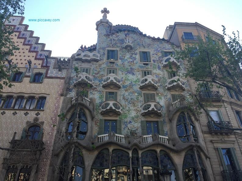 Casa Batllo façade Barcelona Spain
