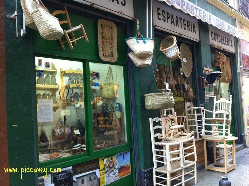Basket shop Granada Spain