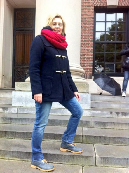 Blue Panama Jack Boots Boston Harvard