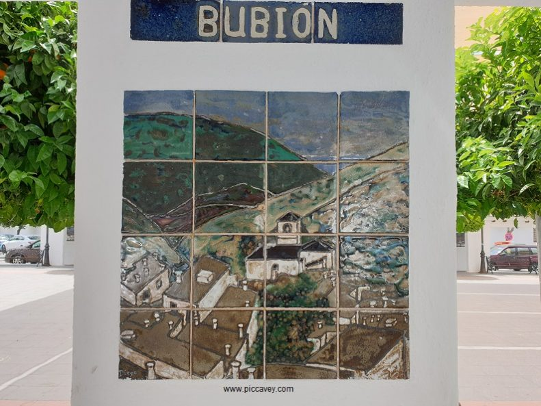 Bubion Plaque in Orgiva granada Spain.