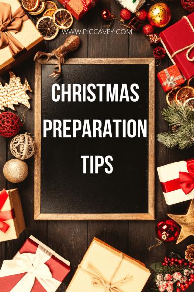 CHRISTMAS PREPARATION TIPS
