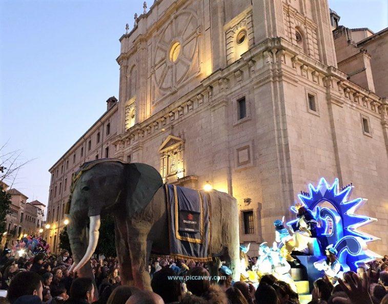 Cabalgata de Reyes Granada Spain Kings.