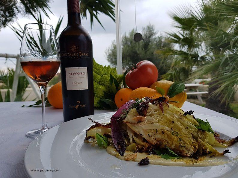 Cabbage Tio Pepe Vegan Patria Vejer Cadiz