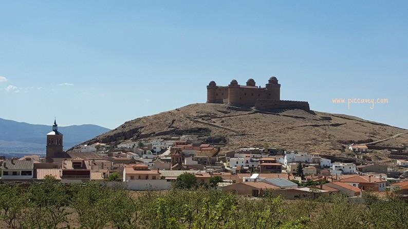 Calahorra Castle north of Granada, Spain