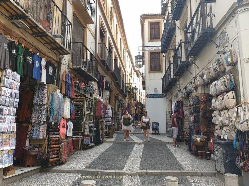 Caldereria Tea Shops Souk in Granada