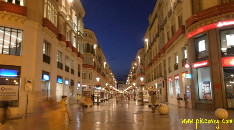 Calle Larios Malaga at Nightime