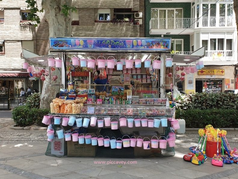 Candy Floss Stand in Granada Spain