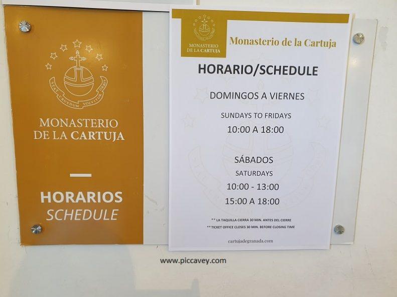 Carthusian Monastery in Spain Timetable