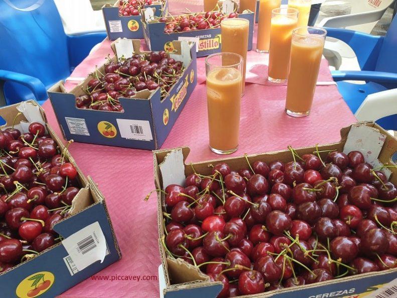 Cherries grown in Jaen