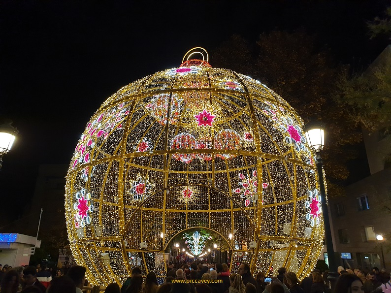 Christmas Lights in Granada Spain 2019