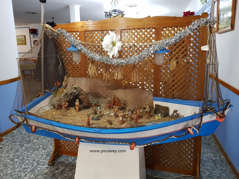 Christmas Nativity Scene in Sevilla Spain