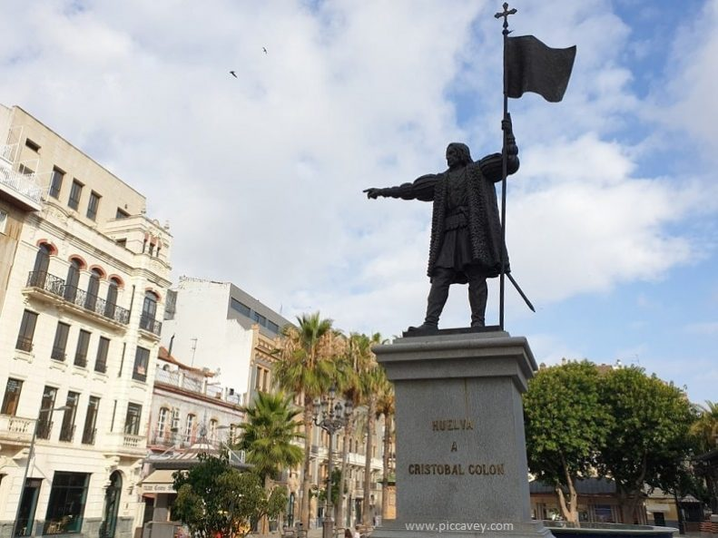 Christopher Columbus Statue in Huelva Spain