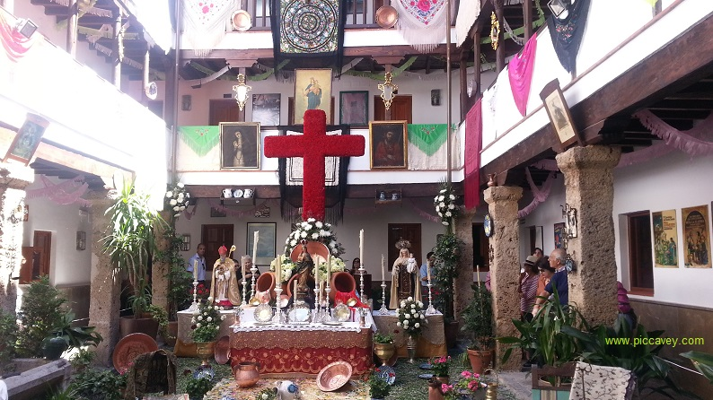 Crosses of May in Granada Spain