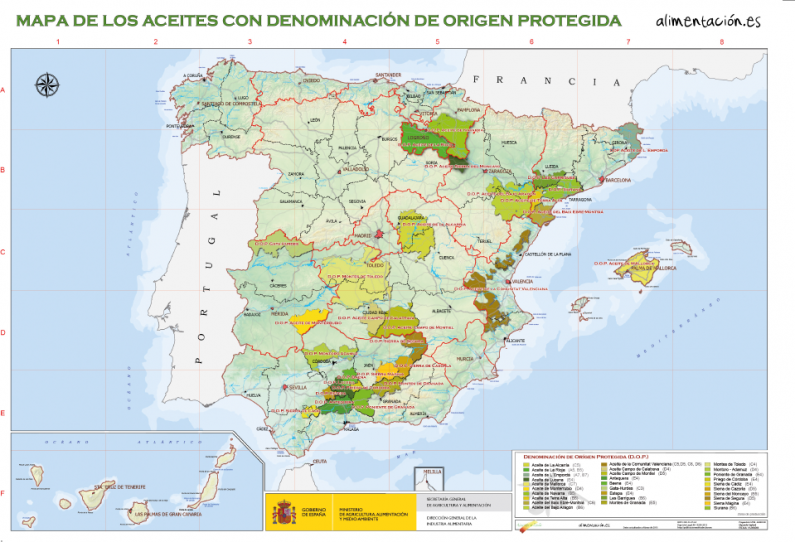 D.O Aceites España Olive Oil Regions of Spain