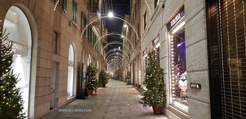 Designer Shops Milan Italy