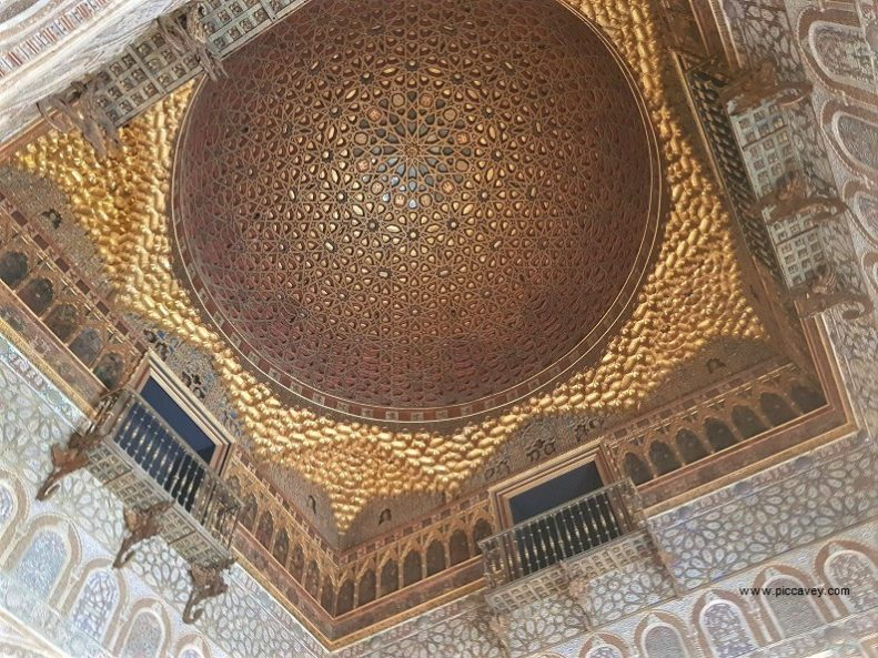 Dome inside Alcazar of Seville Spain