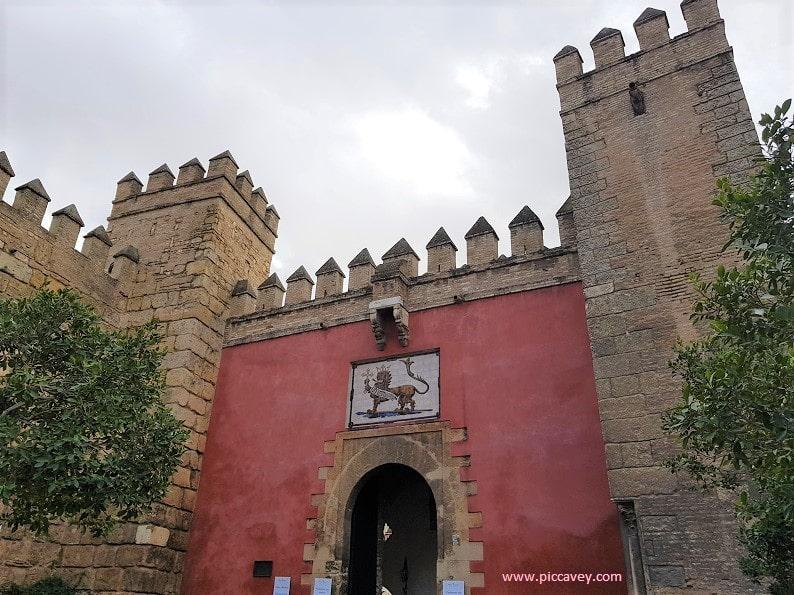 Entrance Alcazar de Seville Spain