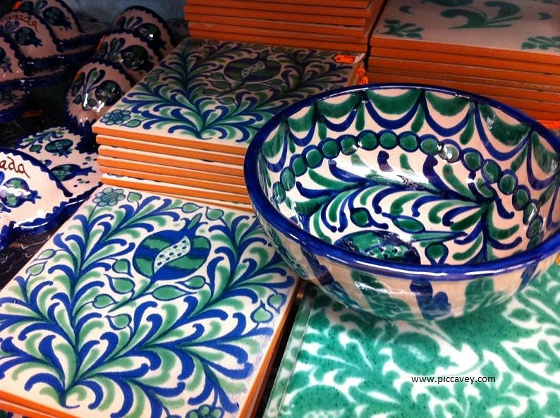 Fajalauza Typical Granada ceramic pottery