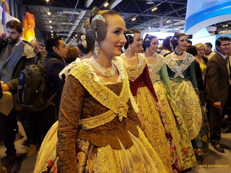 Fallas Valencia Fallera Dress Spain Festival.