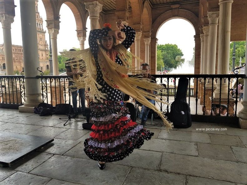 Flamenco Dancer in Seville Spain by piccavey