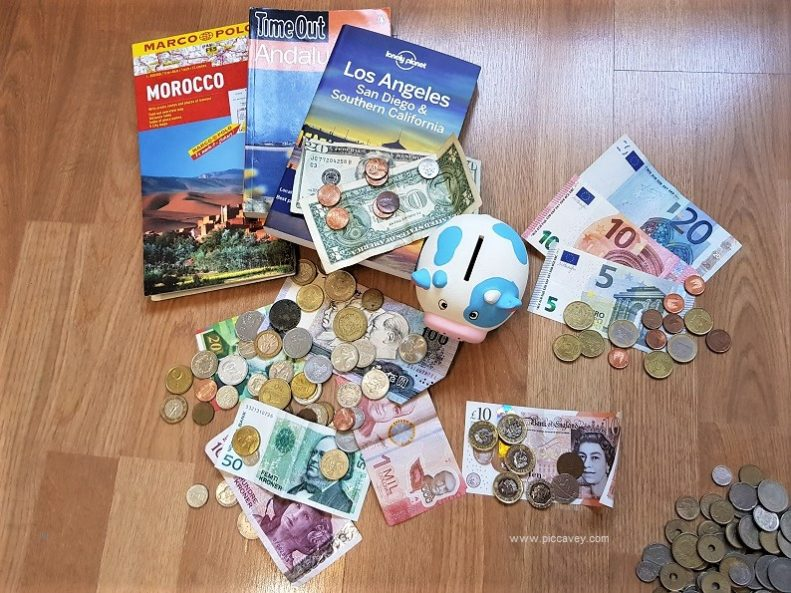 Foreign Currency Leftover coins holiday money by piccavey