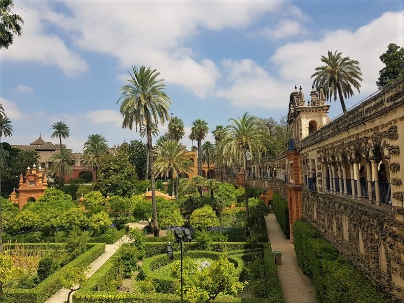 Gardens of the Real Alcazar Seville Spain