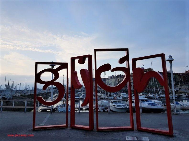 Gijon port Asturias Spain