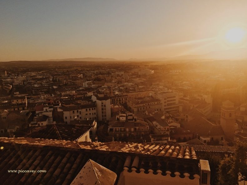 Granada City Sunset in Spain