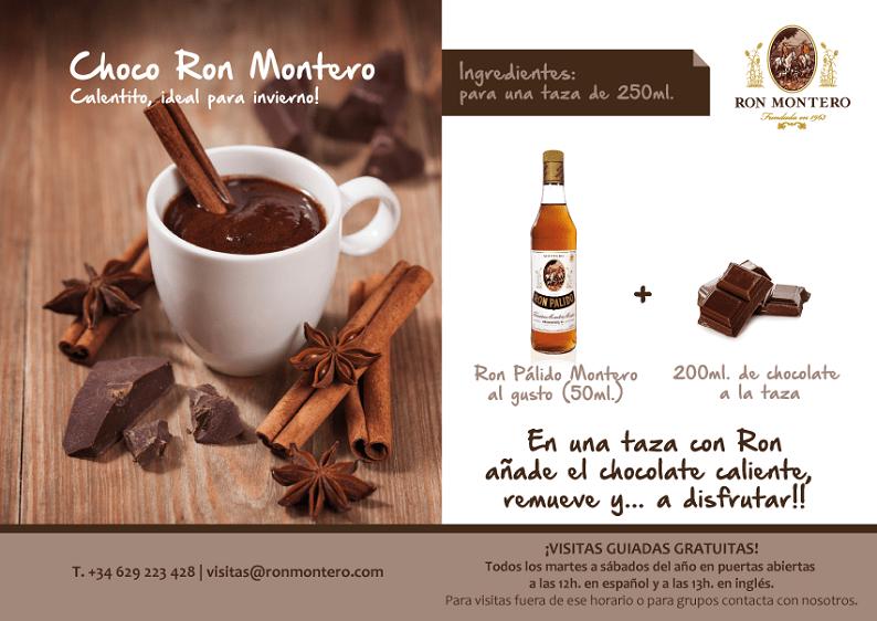 Hot Chocolate with Spanish Rum Ron Montero