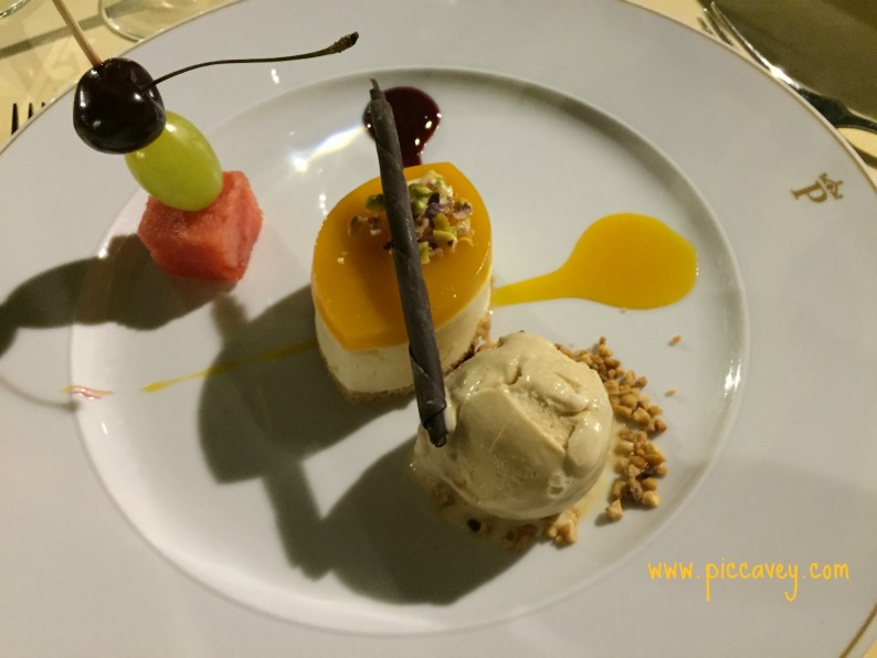 Dessert in the Parador Granada Spain